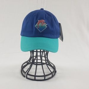 Pink dolphin blue hat